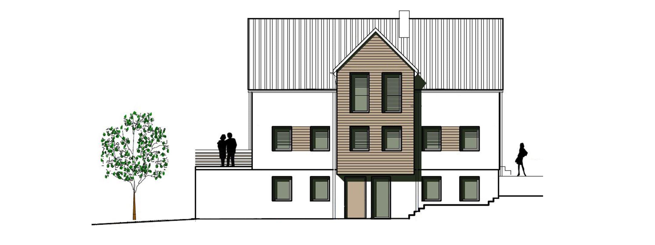 Aufbau Kundenhaus in 71387 Wienstadt
